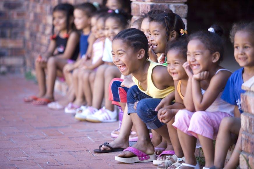 Lachende kindereen, Zuid-Afrika, SOS Kinderdorpen