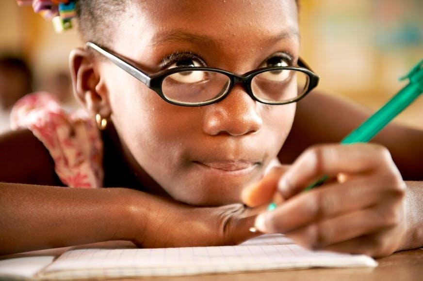 Ivoorkust Yamoussoukro Meisje op school
