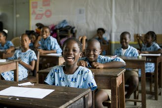 Meisje in de klas_Afrika_SOS Kinderdorpen