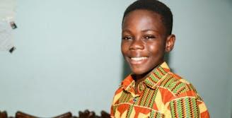 Ghana Tema familiehereniging Mensah portret