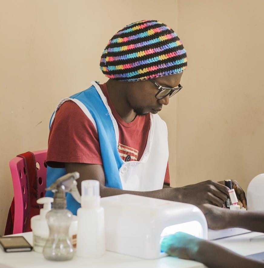 Guinee Bissau Sangue Novo jeugdwerkgelegenheid Malaquias oefent