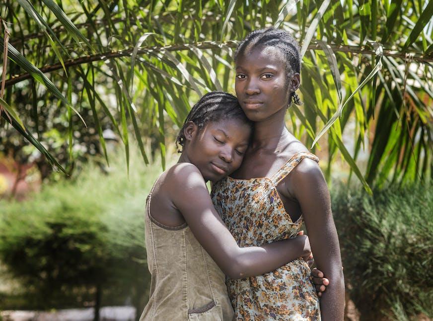 Guinee-Bissau kinderdorp zussen Leonor en Mariana