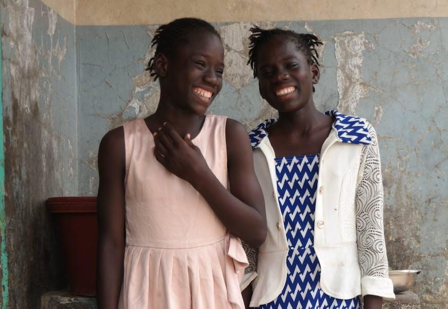 Tsjaad Kinderdorp N'Djamena Zussen Salma en Salima