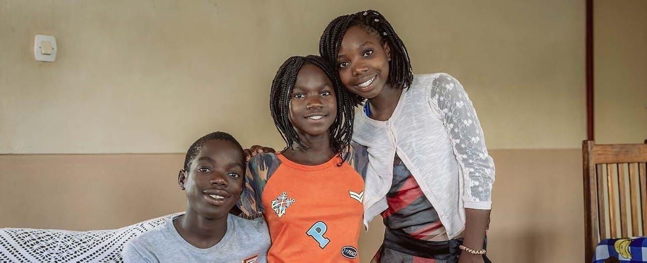 Ana, Dito en Sam uit Mozambique - SOS Kinderdorpen